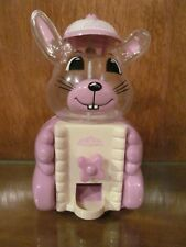 Carousel Bunny Gumball/Candy Vending Machine Lavender Plastic Pre-Owned