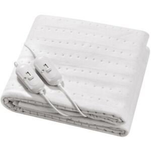 Luxury Electric Blanket Under Heated Washable Single Double King Bed Sofa Comfy