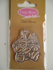 Fizzy Moon Clear Stamps - Teddy Bear with Party hat and cakes - FZCS016 birthday