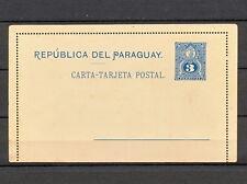 NNBI 084 PARAGUAY STATIONERY POSTAL CARD 1887 MINT