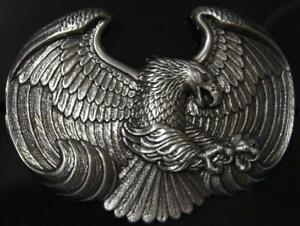 Nocona Attacking Eagle Shaped Embossed Belt Buckle 37658