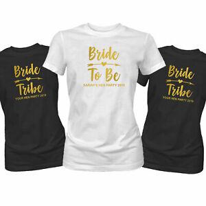 Or Enterrement Vie Jeune Fille T-Shirt Mariée Tribal Do Weekend Trip Haut Custom
