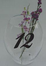 Wedding Table Numbers 1-10, 15, 20, or 25 Centerpiece Vinyl Sticker Decals (c)