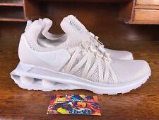 Nike Shox Gravity Mens Mesh Running Shoe White/White AR1999-100 NEW Size 10