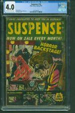 SUSPENSE #16 CGC VG 4.0 OW/WHStan Lee, Pre-Code Horror Marvel Atlas Comics 1951