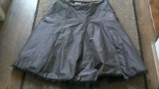 Women's brown Karen Millen netted hem, linning party christmas skirt size 10