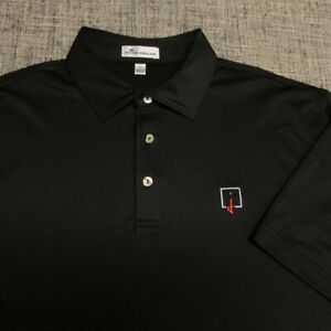 PETER MILLAR STRETCH POLY SPANDEX GOLF SHIRT--L--INVERNESS--EXCEPTIONAL QUALITY!
