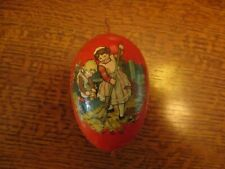 """4"""" Vintage German Papier Mache Easter Egg Candy Container"""