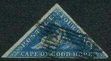 CAPE OF GOOD HOPE - 1853 QV 4d 'DEEP BLUE' FU SG4 Cv £170 [A9471]
