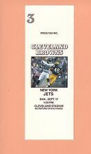 New York Jets at Cleveland Browns 1989 NFL ticket stub Topps Al Toon photo NY Q