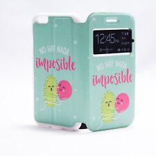 """Funda libro No hay nada imposible"""" para Iphone 7 + opcion cristal templado"""