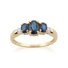 Gemondo 9ct Yellow Gold 1.03ct Sapphire & Diamond Ring