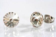 Ohrstecker, frei gefasste Rivoli Kristalle, Ohrringe Swarovski Elements crystal