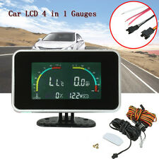Car Auto 4 in 1 Digital Voltmeter/Water Temp/Oil Pressure/Fuel Gauge With Sensor
