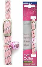 Ancol Softweave Reflective Elasticated Safe Cat Kitten Collar blk/red/blue/pink
