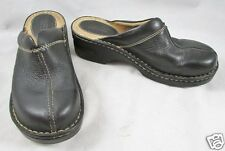 BORN Black Leather Clogs Womens Size 7 Slip Ons Mules Loafers