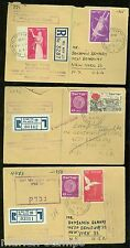 ISRAEL LOT  6 1951/52 REGISTERED MINISTRY OF TRANSPORT & COMMUNICATION S COVERS