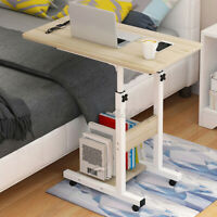 2-tier Shelf Adjustable Removable Computer Desk Office Bedroom Table With wheels