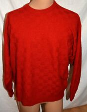 Neiman Marcus mens 100% Cashmere Collection Size XL crewneck Sweater RED