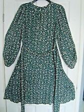 Ladies Monsoon Green Print Dress Size 10 BNWT