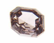 GIA 0.30 carat VS2 Fancy Brownish Orangy Pink Square Emerald Cut Diamond