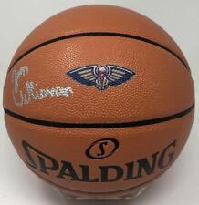 ZION WILLIAMSON Signed New Orleans Pelicans Logo Spalding Basketball FANATICS