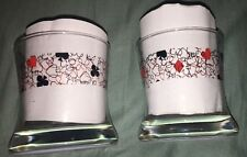 Pair Of Vintage - Poker Glasses - Clubs & Hearts