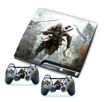for PlayStation 3 Slim PS3 Console + Controller Skins Assassin Soldier Cool