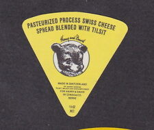 Ancienne  petite étiquette fromage Royaume Uni Suisse BN16794 Ourson Ours 3