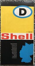 Shell Oil Germany Deutschland Map 1960s