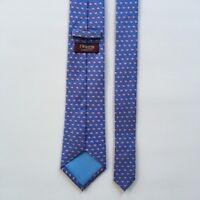 """T.m. lewin tie l 60"""" w 3.25""""  blue pink fish 100% silk necktie pa0705"""