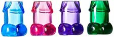 Beistle 54645 Multicolored Willie Shot Glasses, 4 Count