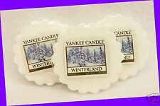 3 Yankee Candle WINTERLAND White Wax Tarts Mini Small Candle apprx. 8 hrs ea