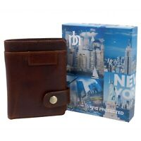 Mens Quality Oiled Leather wallet by PrimeHide with Gift Box RFID Protected