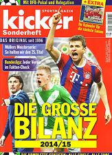 Kicker Sonderheft Die Grosse Bilanz 2014/15 Finale German Football Season Review