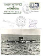 NEDERLAND ONDERZEEBOOT SUBMARINE 1966  OZB S 809 = ZEEHOND = 1 x CV + FOTO