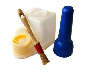 Leather Craft Glue Pot  and Brush  Cement Keeper Anti-Evaporation - Medium,Large