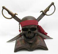 Pirate Skull & Replica Swords Display