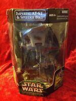 Star Wars Power of the Jedi Imperial AT-ST & Speeder Bike