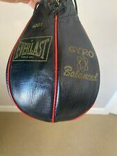 Everlast 4201 Gyro Balanced Speed Bag Boxing Gym Leather Red & Black Vintage