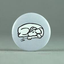 JACQUELINE DITT - Button Dog-Black on grey Font Hund Anstecker Badge Pin Grafik