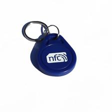 10 NFC Blu ABS Portachiavi/Portachiavi NXP Ntag 213 Samsung Android