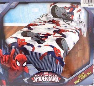 Marvel Comics Ultimate Spider-Man Single Duvet Cover Set Bed Bedding FREE SHIPP