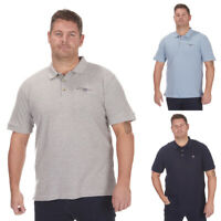 Men's Plus Size Polo T-shirt Shirt 100% Cotton Chambray Collar Top Big & Tall