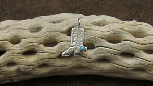 Sterling Silver Sandcast Boot Pendant
