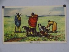 1952 Art Postcard Ready to Move By Andrew Standing Soldier Dakota Artist USA