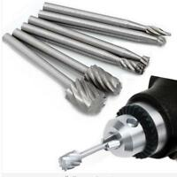 6Pcs HSS Routing Router Grinding Bits Burr Speed Kit For Rotary Cutter Tool MA