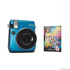 Instax Mini 70 blau Sofortbildkamera Kamera Sofortbild Sparset mit rainbow Film