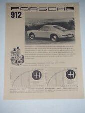 1966 / 1967 Porsche 912 Coupe Sheet, Brochure, Prospekt English RARE!! Awesome