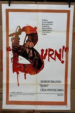"Original Burn 1970 movie poster Marlon Brando 27"" x 41"""